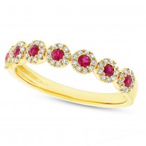 0.16ct Diamond & 0.24ct Ruby 14k Yellow Gold Lady's Ring