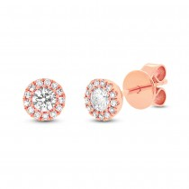 0.29ct 14k Rose Gold Diamond Stud Earrings