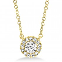0.14ct 14k Yellow Gold Diamond Necklace