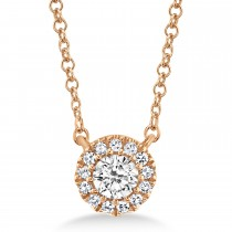 0.14ct 14k Rose Gold Diamond Necklace