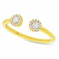 0.23ct 14k Yellow Gold Diamond Lady's Ring