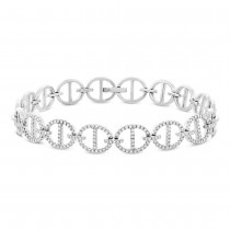 0.57ct 14k White Gold Diamond Lady's Bracelet
