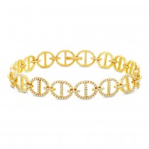 0.57ct 14k Yellow Gold Diamond Lady's Bracelet