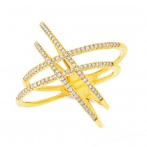 0.32ct 14k Yellow Gold Diamond Lady's Ring