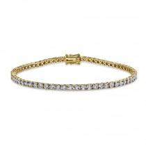 1.00ct 14k Yellow Gold Diamond Lady's Bracelet