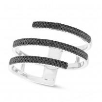 0.30ct 14k White Gold Black Diamond Lady's Ring