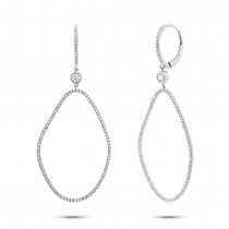 0.82ct 14k White Gold Diamond Earrings