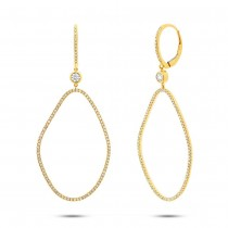 0.82ct 14k Yellow Gold Diamond Earrings