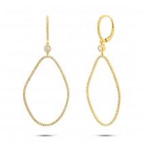0.82ct 14k Yellow Gold Diamond Earrings
