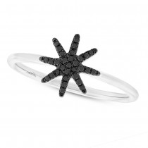 0.10ct 14k White Gold Black Diamond Lady's Ring