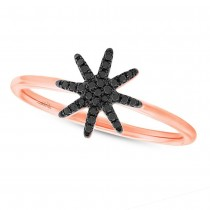 0.10ct 14k Rose Gold Black Diamond Lady's Ring