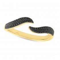 0.20ct 14k Yellow Gold Black Diamond Lady's Ring