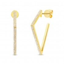 0.32ct 14k Yellow Gold Diamond Earrings