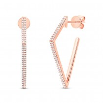 0.32ct 14k Rose Gold Diamond Earrings