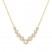 0.56ct 14k Yellow Gold Diamond Lady's Necklace