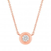 0.11ct 14k Rose Gold Diamond Necklace