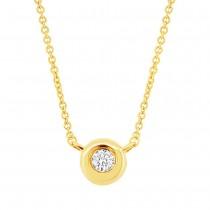 0.03ct 14k Yellow Gold Diamond Necklace