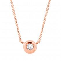 0.03ct 14k Rose Gold Diamond Necklace