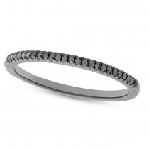 0.08ct 14k Black Rhodium Gold Black Diamond Lady's Band