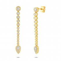 0.73ct 14k Yellow Gold Diamond Earrings