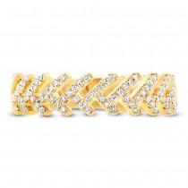0.20ct 14k Yellow Gold Diamond Leaf Ring