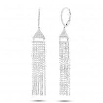 0.30ct 14k White Gold Diamond Fringe Earrings