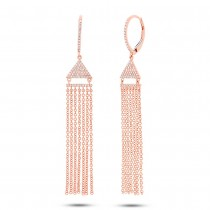 0.30ct 14k Rose Gold Diamond Fringe Earrings