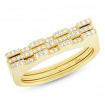 0.22ct 14k Yellow Gold Diamond Puzzle Ring 2-pc