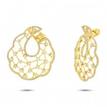 1.54ct 14k Yellow Gold Diamond Earrings