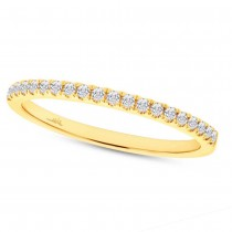 0.18ct 14k Yellow Gold Diamond Lady's Band