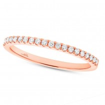 0.18ct 14k Rose Gold Diamond Lady's Band