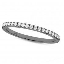 0.18ct 14k Black Rhodium Gold Diamond Lady's Band