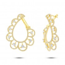 1.65ct 14k Yellow Gold Diamond Earrings