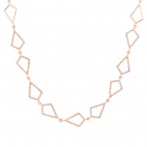 0.56ct 14k Rose Gold Diamond Pave Choker Necklace