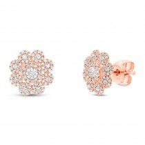 0.65ct 14k Rose Gold Diamond Earrings