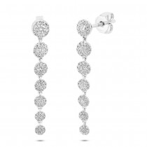 0.80ct 14k White Gold Diamond Earrings