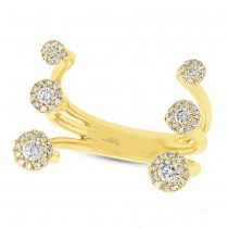 0.43ct 14k Yellow Gold Diamond Lady's Ring