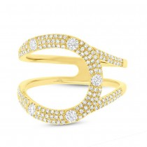 0.57ct 14k Yellow Gold Diamond Lady's Ring