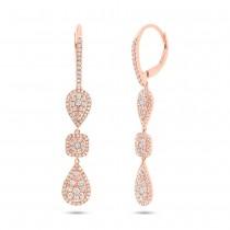 0.99ct 14k Rose Gold Diamond Earrings
