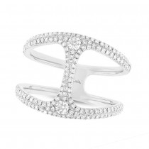 0.54ct 14k White Gold Diamond Lady's Ring