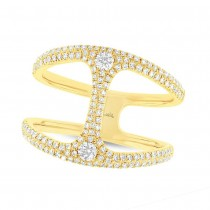 0.54ct 14k Yellow Gold Diamond Lady's Ring