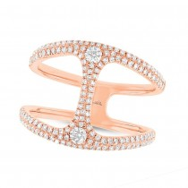 0.54ct 14k Rose Gold Diamond Lady's Ring