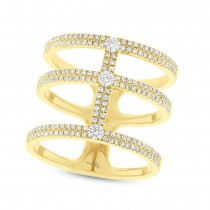 0.59ct 14k Yellow Gold Diamond Lady's Ring