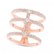 0.59ct 14k Rose Gold Diamond Lady's Ring