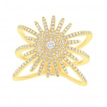 0.58ct 14k Yellow Gold Diamond Lady's Ring