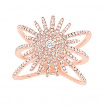 0.58ct 14k Rose Gold Diamond Lady's Ring