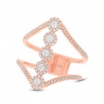 0.56ct 14k Rose Gold Diamond Lady's Ring