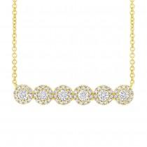 0.50ct 14k Yellow Gold Diamond Necklace