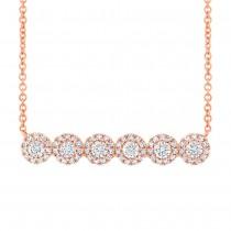 0.50ct 14k Rose Gold Diamond Necklace