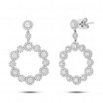 2.07ct 14k White Gold Diamond Earrings